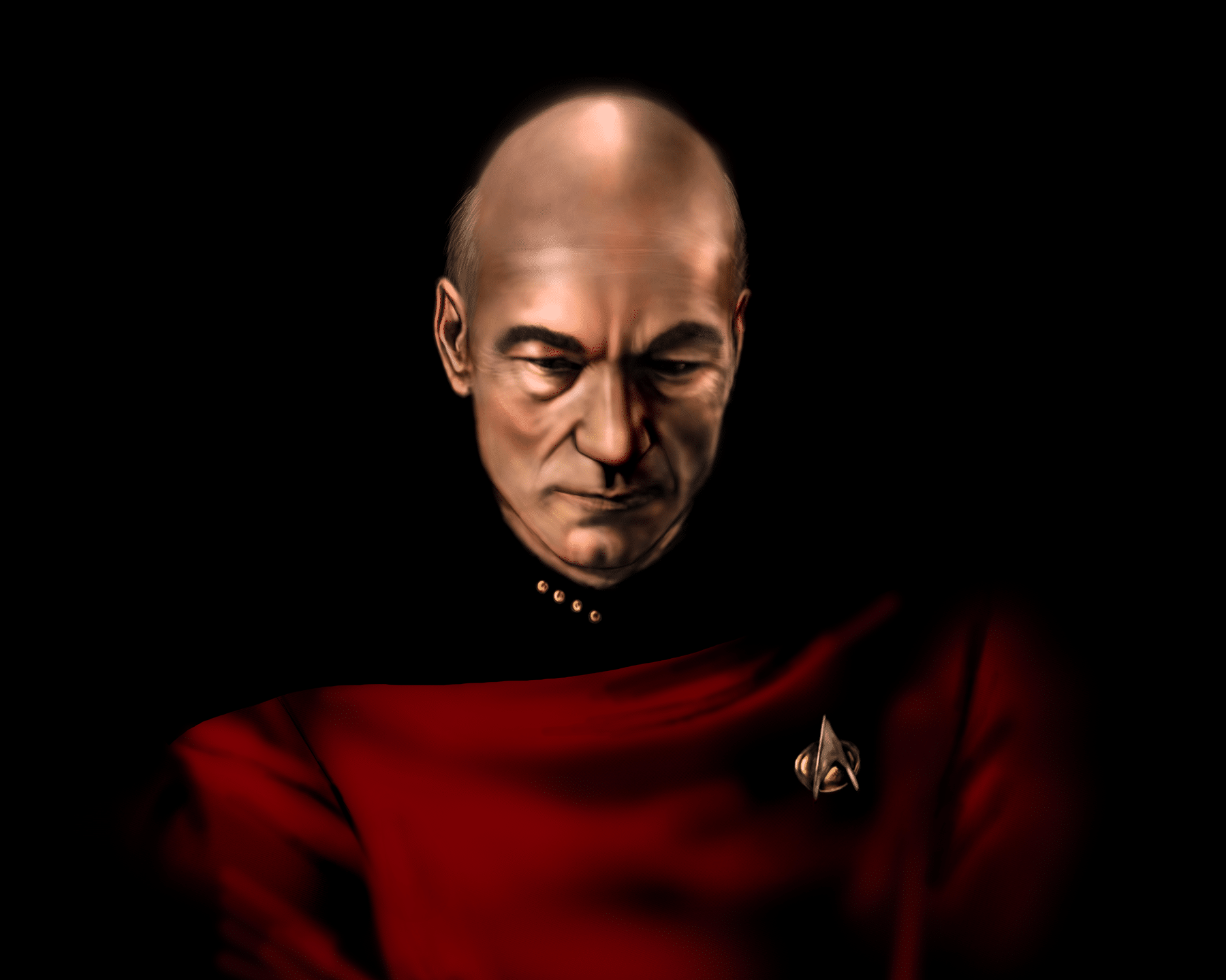 Captain Jean Luc Picard Painting