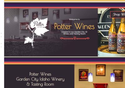 Potter Wines Web Design